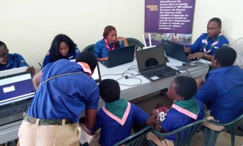 Le Centre Inter-Groupes Scouts, Guides et Éclaireurs connecté au Jota Joti !